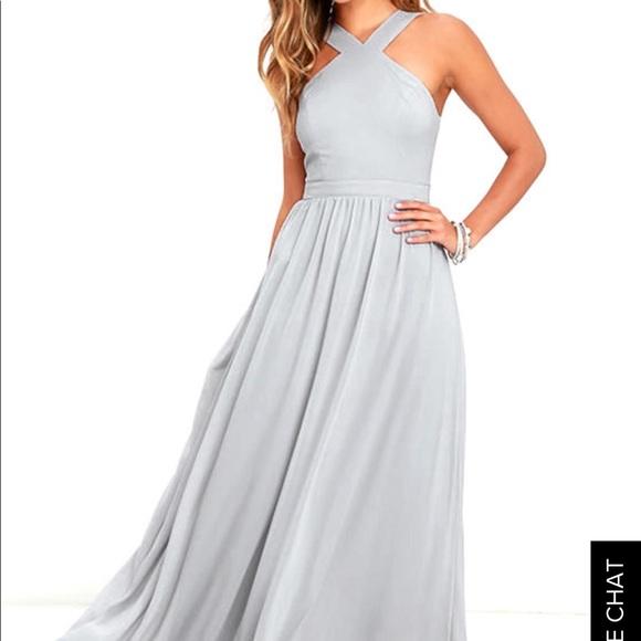 1bdcb8eb9a0e4 Lulu's Dresses | Air Of Romance Grey Maxi Dress | Poshmark